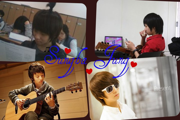 collage of Sungha Jung
